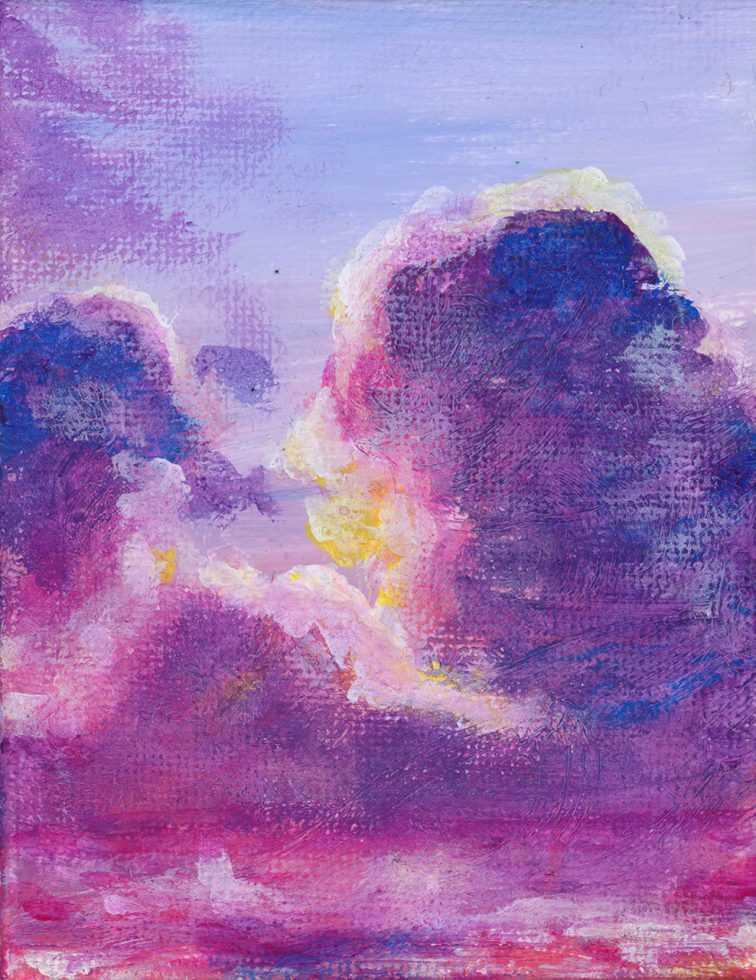 Pink Clouds ~ Mini Canvas